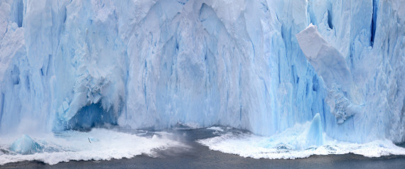 Ice calving from the Petzval Glacier in Paradise Bay in Antarcti